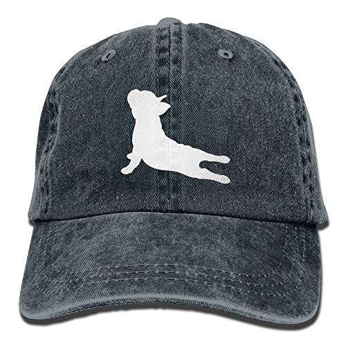 French Bulldog Cap - Alility Caps French Bulldog Yoga Cotton Adjustable Denim Hat Trucker Cap for Man and Woman