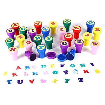 Amazon.com: Letter Stamps for Classroom and Teachers, Luckybird