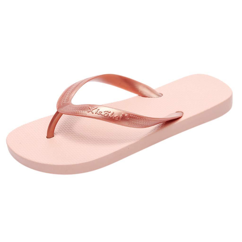YOcheerful Women Flip Flops,Women Classic Summer Flip Flops Shoes Lightweight Sandals for Beach Casual Shoes