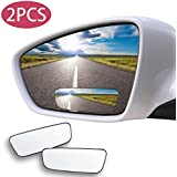 Blind Spot Mirror Square 2 Pack GAXIOG Wide Angle Mirror Adjustable Convex Rear View Mirror 360°Rotate for All Universal Vehicles Car Stick on Design