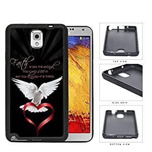 Blessed Faith is Like The Angel Quote with White Dove Holding Red Heart Hard Phone Case Cover Samsung Galaxy Note 3 N9000
