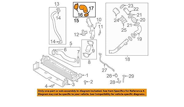 Amazon.com: HYUNDAI OEM Elantra Turbo Turbocharger Intercooler-Connector Hose 282632B780: Automotive