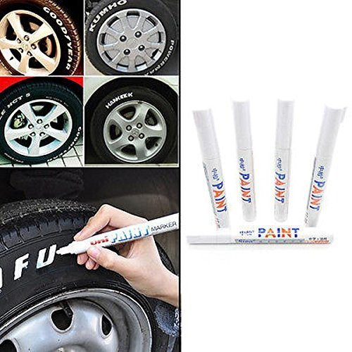 5 Pcs Car Moto Auto Permanent Tyre Tread Rubber Marker Paint Pen Waterproof New