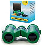 Shock Proof 8x21 Kids Binoculars Set - For Bird Watching - Educational Learning - Stargazing - Hunting - Hiking - Sports Games - Outdoor Adventure - Astronomy (USA SELLER)