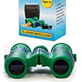 Kidwinz Shock Proof 8x21 Kids Binoculars Set with High Resolution Real Optics - Bird Watching - Amazing Presents - Gifts for Children - Outdoor Play - Toys for Boys and Girls