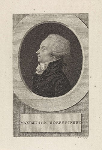 "Classic Art Poster - Portrait of the French lawyer Maximilien Marie Isidore de Robespierre, Ludwig Gottlieb Portman, 1805 9"" x 13"" -  VintPrint, RMC19818AM"