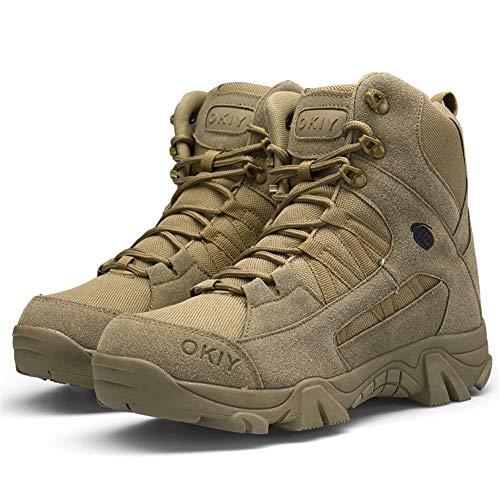 ailishabroy armée mâle Commando Combat désert en Hiver Bottes de randonnée en Plein air d'atterrissage Chaussures… 4