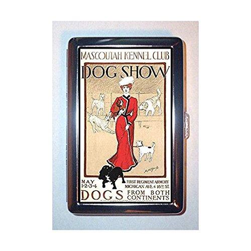 1901犬Show、ビクトリア朝女性、Kennel Club :ステンレススチールIDまたはCigarettesケース( Kingサイズまたは100 mm )   B00RSN7MDK