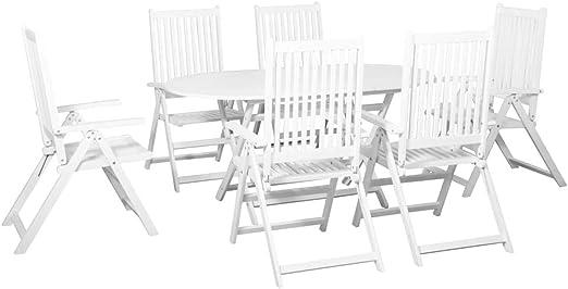 Festnight Conjunto de Muebles Terraza de Comedor de Jardín,Mesa y ...