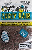 One & Only Craft 'MINI CURL' Curly DOLL HAIR Pack of .50 OZ. AUTUMN BROWN Color (1990)