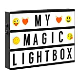 Enhanced Cinematic Light Box with Letters, Numbers and Symbols - Perfect Gift for All Occasions! Super bright LED A4 lightbox with 85 high quality tiles & USB cable included (Pink)