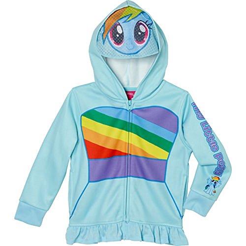 My Little Pony Girls' Fleece Hoodie-Blue (5)