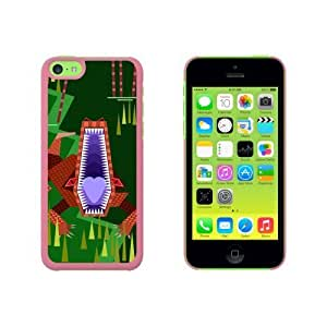 Geometric Crocodile Brown Snap On Hard Protective For HTC One M8 Phone Case Cover - Pink
