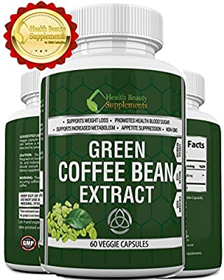 * ULTRA GREEN COFFEE BEAN EXTRACT WITH GCA * Mega Potent NON-GMO Formula - Extreme 100% Natural Weight Loss Capsules - Fast Acting Weight loss