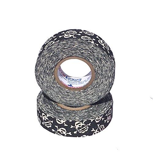 (Sports Tape Athletic Tape (Hockey Lacrosse Stick Tape, Baseball Bat Tape) 2 Pack (Skull Crossbones, 1