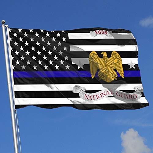 QphonesFlag Thin Blue Line US Army National Guard Bureau Flag 3x5-Flags 90x150CM-Banner 3'x5' FT