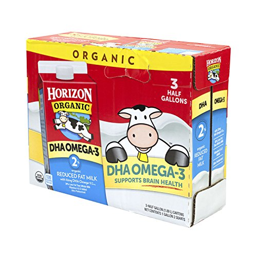 1/2 Gallon Milk - Horizon Organic 2% Half Gallon (3 Pack)