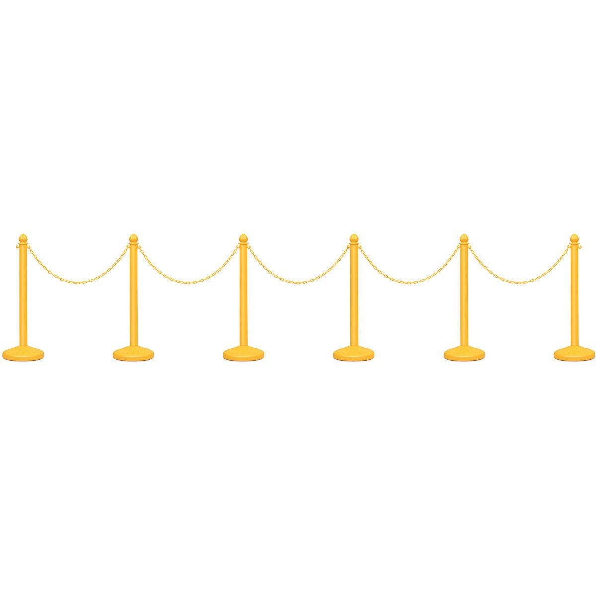 Goplus 6pcs Plastic Stanchion Set Crowd Control Stanchions Barriers Outdoor and Indoor Stanchions with 39.5'' Connect Chain, C-Hooks