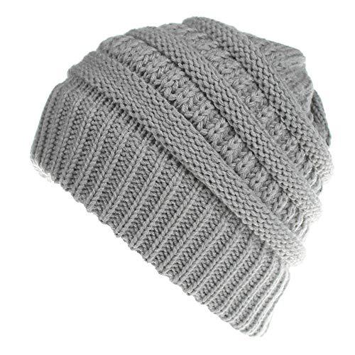 CHIDY Men Women Cute Trend Solid Color Warm Cap Wool Knit Ski Beanie Skull Slouchy Hat Unisex