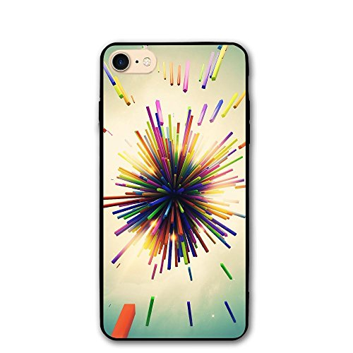 IPhone 8/8s Case Color Radiation Picture Anti-Scratch PC Rubber Cover Lightweight Soft Slim Printed Protective Case ()