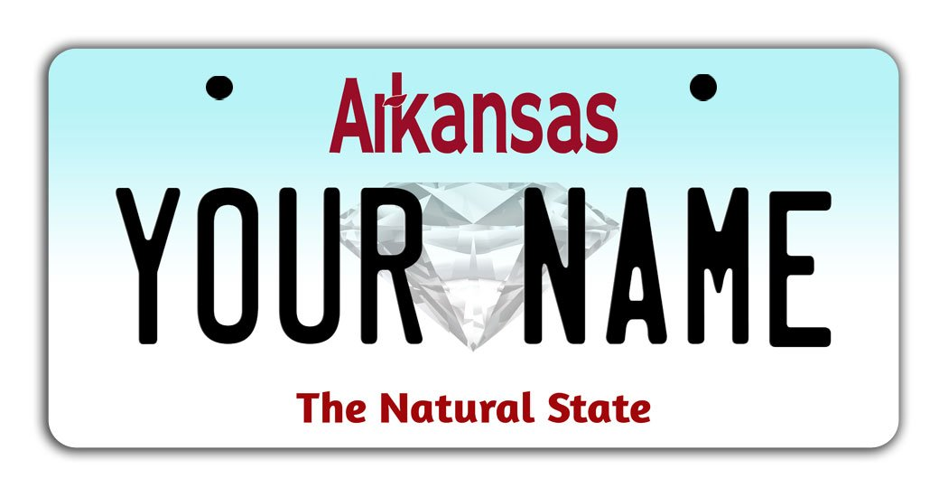 BleuReign Personalize Your Own Arkansas State Bicycle Bike Stroller Children's Toy Car 3''x6'' License Plate Tag