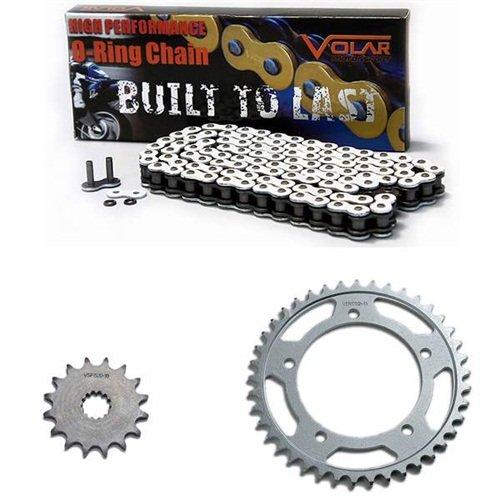Suzuki Bandit Chain (1997-2005 Suzuki Bandit 1200 GSF1200S O-Ring Chain and Sprocket Kit - White)