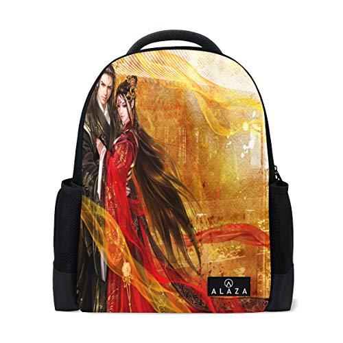 Fantasy Couple Full HD Wallpaper Backpack Womens Laptop Daypack School Hiking Mens Travel Bags Student