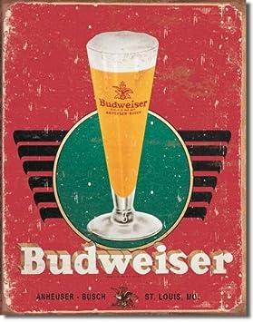 FREE SHIPPING Budweiser Beer Preferred Handmade Wood frame 15X18 metal vintage bar Tin sign rustic wall display