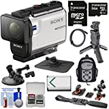 Sony Action Cam HDR-AS300 Wi-Fi HD Video Camera Camcorder Shooting Grip Tripod + Action Mounts + 64GB Card + Battery + Backpack + Kit