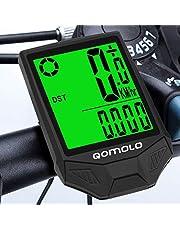 Qomolo Cuentakilómetros para Bicicleta,Impermeable Velocímetro Inalámbrico para Bicicleta, Muti-Funcion Ciclocomputador Ciclismo con Pantalla Grande Retroiluminación LCD,Despertar y Dormir Automáticos