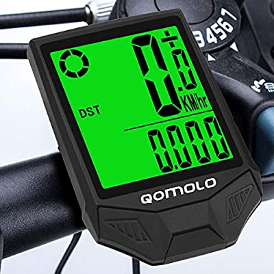 Qomolo Cuentakilómetros para Bicicleta,Impermeable Velocímetro ...