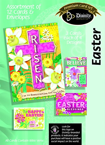 Divinity Boutique Greeting Card Assortment: Easter, Bright's Risen (22378N)
