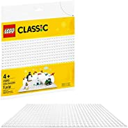 LEGO Classic White Baseplate 11010 Creative Toy for Kids, Great Open-Ended Imaginative Play Builders, New 2020
