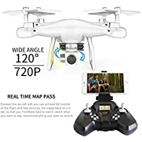 SUKEQ 2.4G 4CH 6 Axis Gyro 720P Camera 120°Angle Headless Altitude Hold Quadcopter Drone with Real-time Transmission