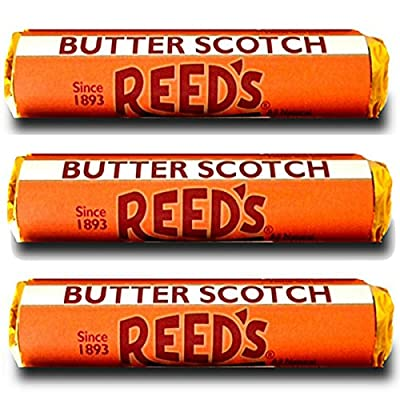 Reed's Butterscotch Hard Candy 3 Pack - Individually Wrapped - Since 1893