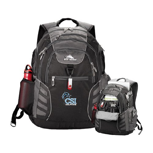 College of Staten Island High Sierra Big Wig Black Compu Backpack 'Official Logo' by CollegeFanGear