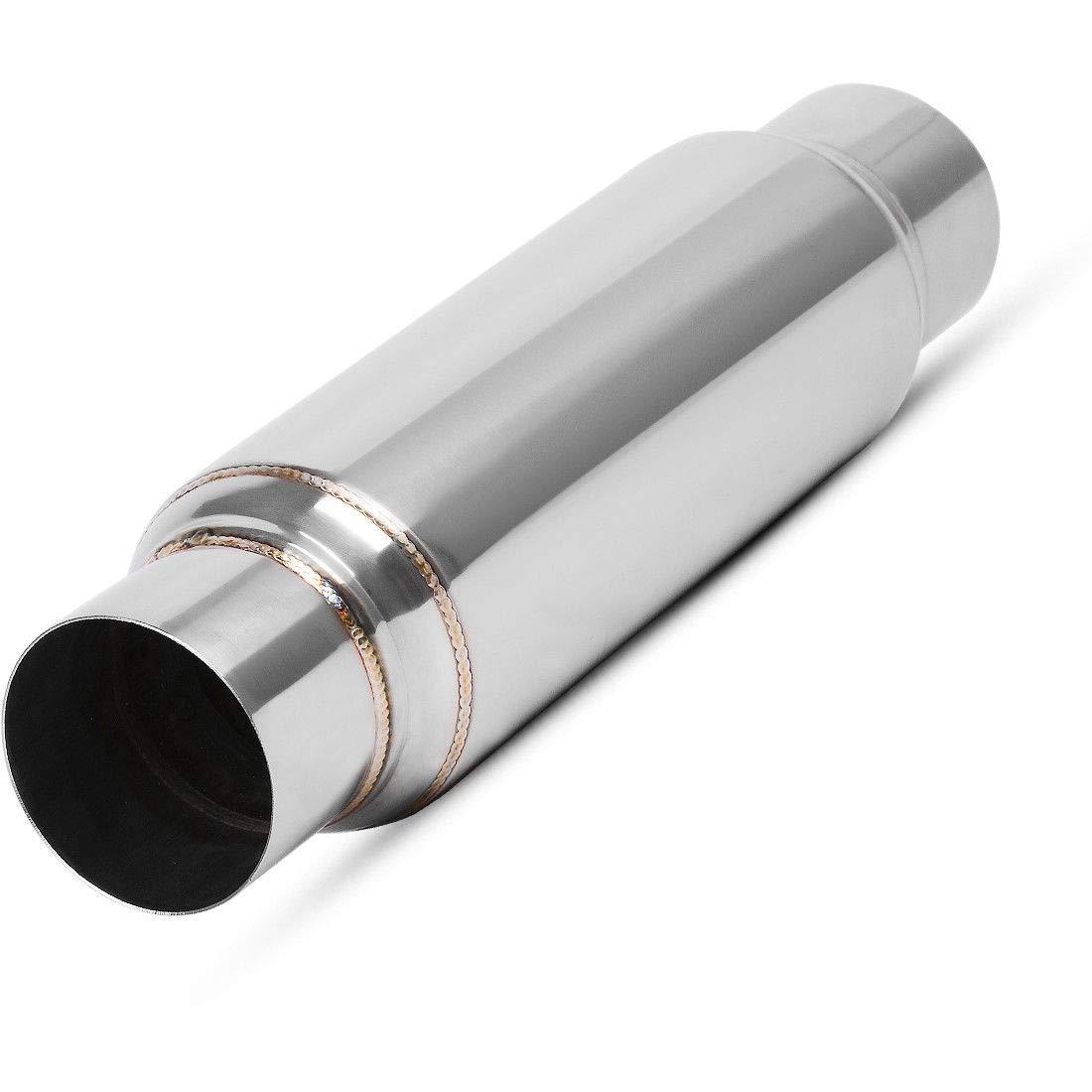 "AUTOSAVER88 3 Inch Inlet Single Chamber Exhaust Muffler 3/"" Inside RSN304016"