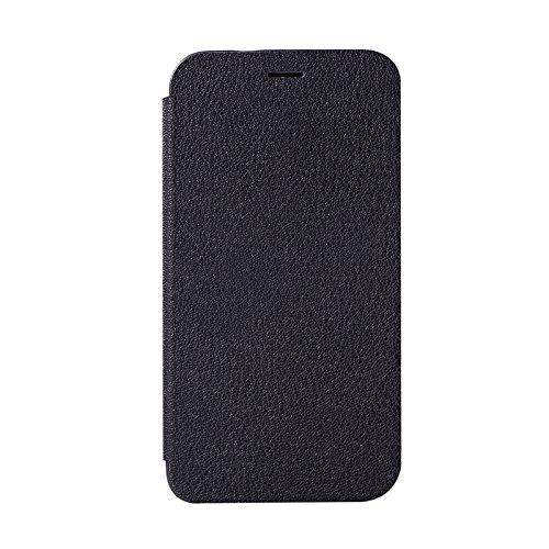 YHUISEN Caso de OPPO A59S, caja de cuero de lujo ultra fina de la PU del tirón con el soporte para OPPO A59S ( Color : Green ) Black