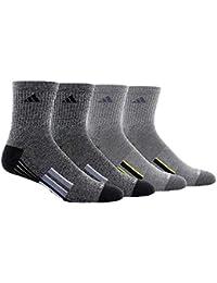 Mens Performance Climalite High Quarter Compression, Color Crew Socks, Newest Design 4 Pair -