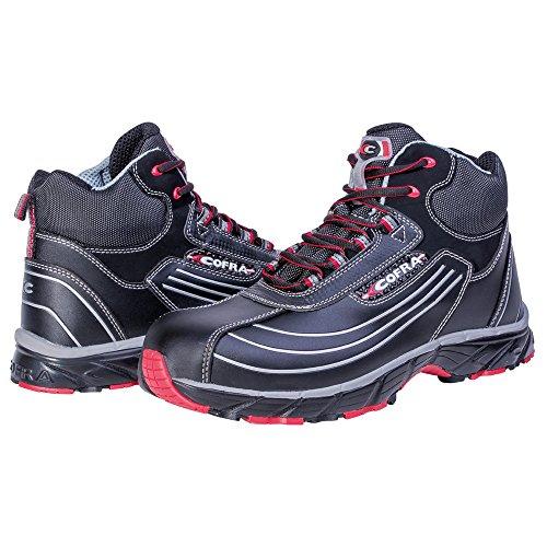 """Cofra zapatos de seguridad S3""""New Phantom workflying Serie de alta deportivo zapato de trabajo con tapa de acero con suela de goma piel negro pedalada Protección"""