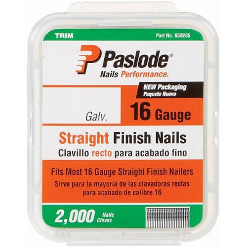 Paslode 650284 1-3/4-Inch by 16 Gauge Galvanized Staight Finish Nail (2,000 Per Box)