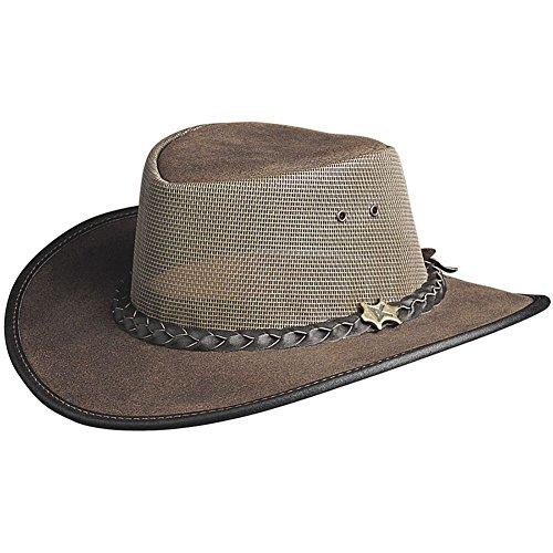BC Hats Cool As A Breeze Leather,Mocha,US L ()