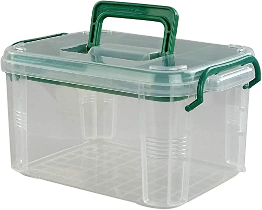 Lesbye Caja de Primeros Auxilios Plástico, Kit de Almacenamiento de Medicamentos, Transparente: Amazon.es: Hogar