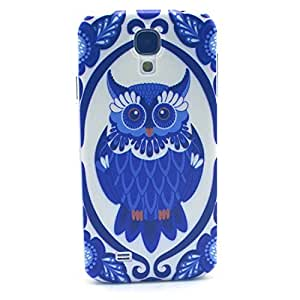Galaxy i9190 Case Galaxy S4 mini Case - LUOLNH Fashion Style Colorful Painted blue owl Hard Case Back Cover Protector Skin for Samsung Galaxy S4 mini i9190 (Not for S4 )