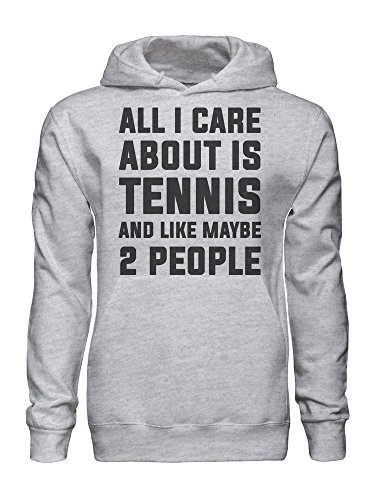 graphke All I Care About is Tennis and Like Maybe 2 People Men's Hoodie Small