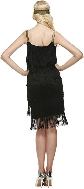 Abiti Eleganti Taglia 36.Amazon Com L Vow Women 1920s Tassels Straps Dress Gatsby