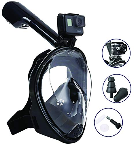AquaCore Latest 2019 Version Full Face Snorkel Mask for Adult and Kids with Go-pro Mount Anti-Fog and Anti-Leak Technology and 180° Panoramic Crystal Clear View (Best Scuba Goggles 2019)