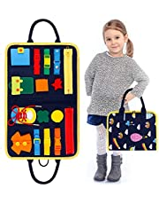 GiftInTheBox Toddler Busy Board Montessori Toys Basic Skills Board for Toddlers Learning Dress, Educational Learning Toys, Bag Designed Enlighten Toy for Infants, Boys and Girls 1 2 3 4 5 Year Old …