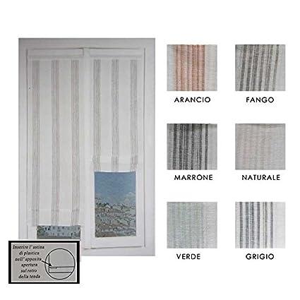 Coppia tendine vetro regolabili pacchetto Caraibi-Marrone-60x230 ...