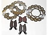 Honda TRX450R TRX 450 R Front and Rear Brake Pads and Sport Rotors